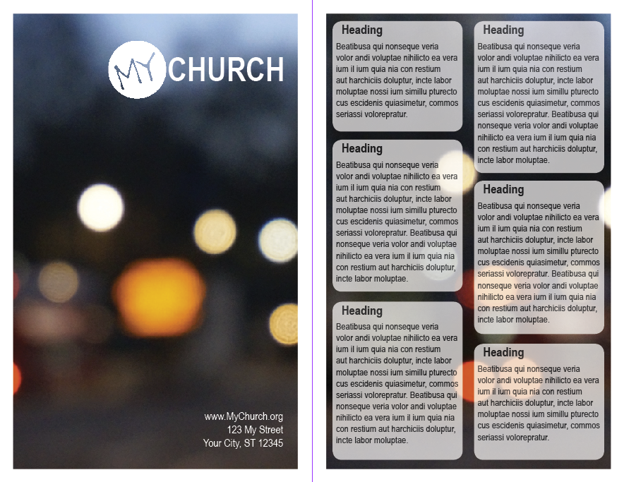 Free Resource Friday Worship Guide Templates – Church Bulletin Template